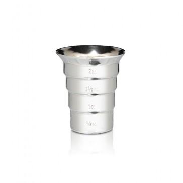 Stepped Jigger, No Handle (oz) - Stainless Steel