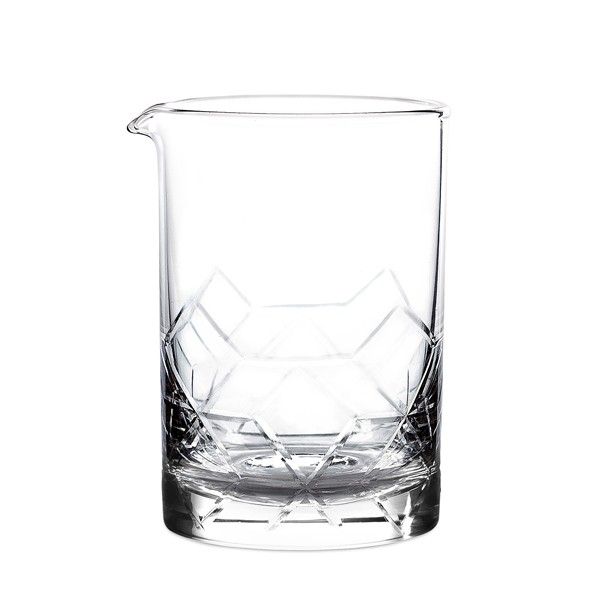 asanoha u2122 mixing glass  seamless 550ml flat base