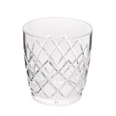 Acrylic Yarai® Stackable Double Rocks Glass